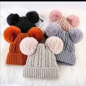 Beanie removable Pom Pom+Back in stock colors! NWT